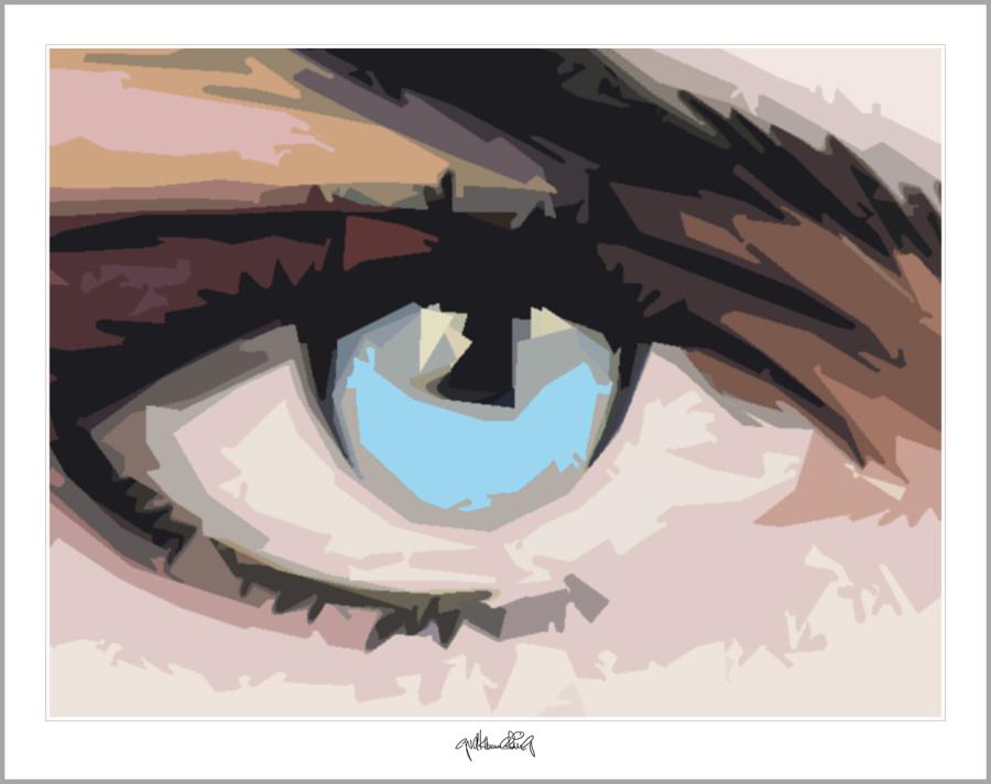 blaue Augen, Wandbild, Augenarzt, Wartezimmerkunst,