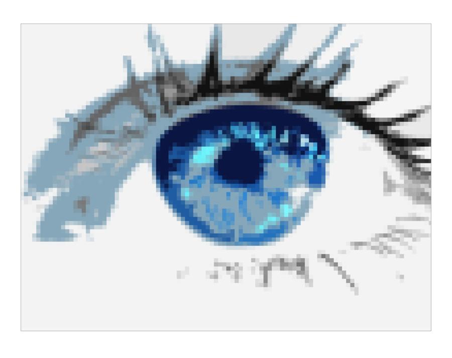 blaue Augen, Kunst Augenpraxen, Bilder Augenklinik, Augen-Kunst