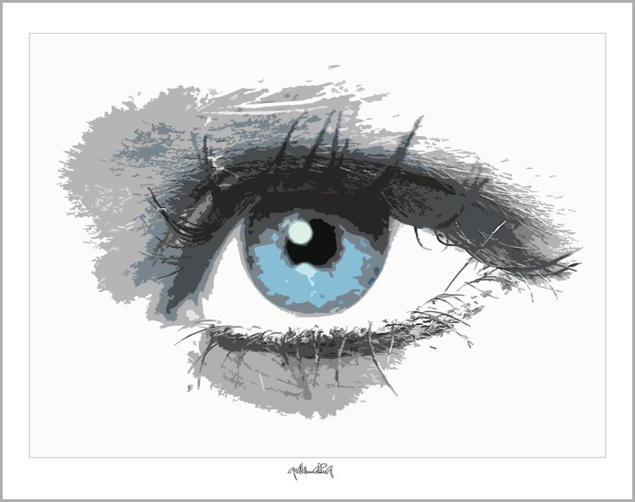 Augen, zeitgenössische Kunst, moderne-Pop Art, Bilder fürs Wartezimmer,