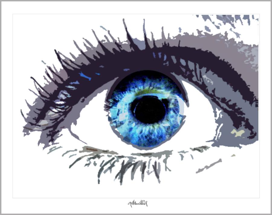 Wandbilder für Augenärzte und Augenarztpraxen, Blaue Augen, Bilder Wartezimmer, schöne Augen,