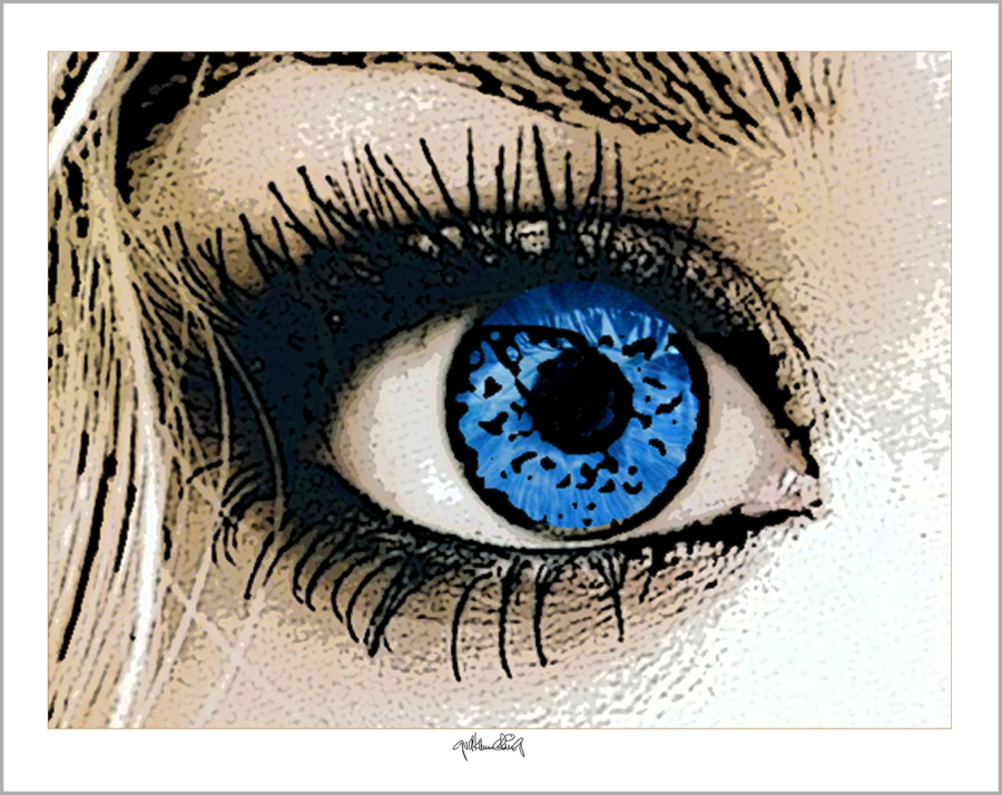 blaue Augen, Augen, Kunst, Bild, Wandbild, Rezeption, Augenarzt, Augen und Kunst,