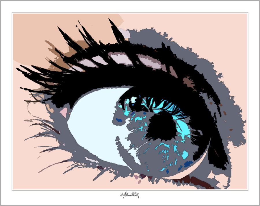 blaue Augen, zeitgenössische Kunst, moderne-Pop Art, Bilder Empfangsbereich