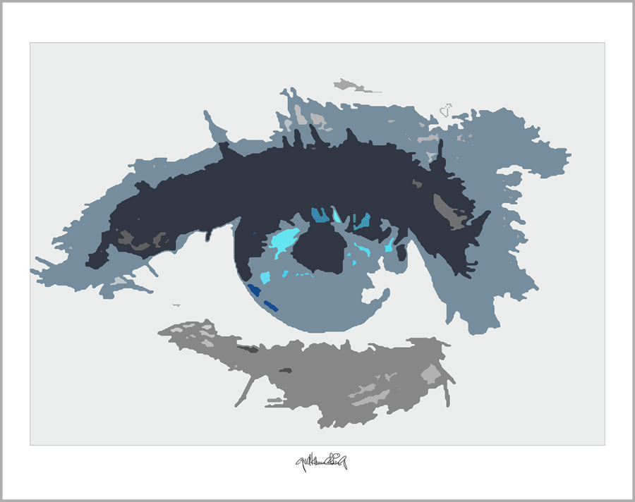 Augen, Kunst, Bild, Wandbild