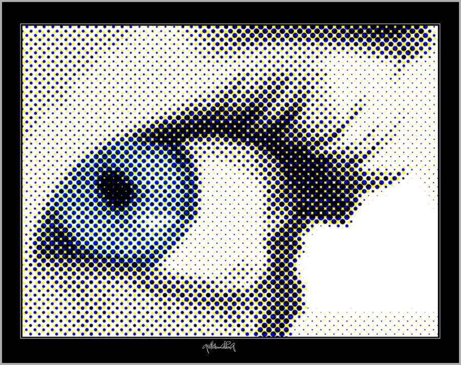 blaue Augen, Augenarzt Wartezimmer, Kunst für Augenärzte,