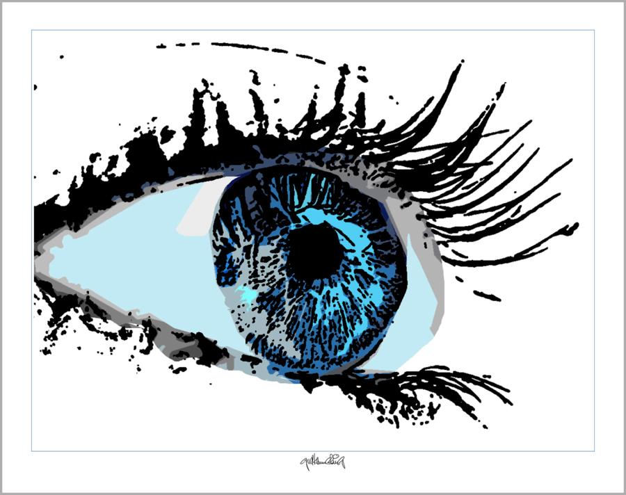 Wandbild Augenarztpraxis, Bilder Rezeption Augenarzt, Kunst, Auge
