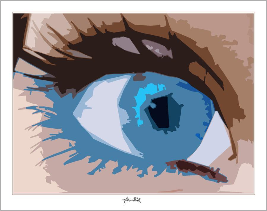 Augenbild, Kunst, moderne-Pop Art, Augenkunst, Augenarztpraxis,