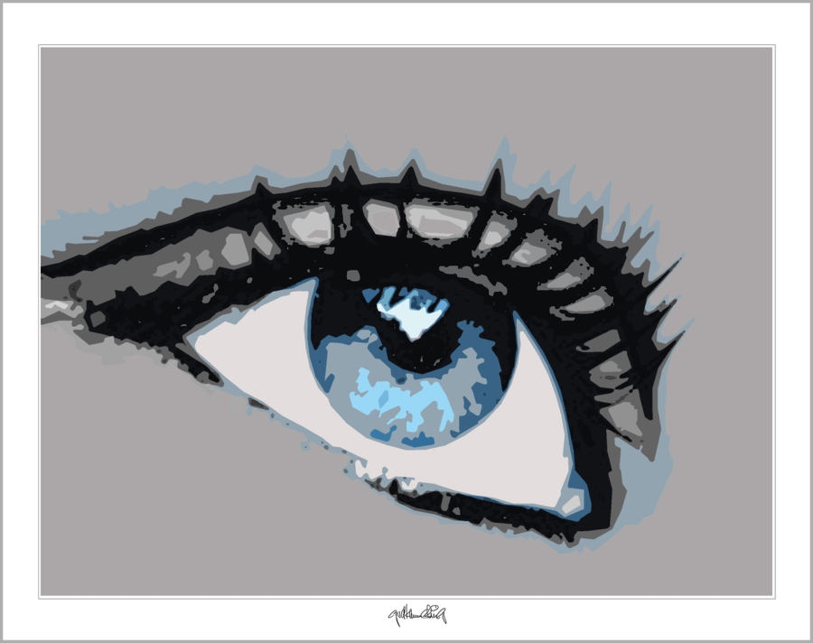 blaue Augen, Augen, Wandbild Augenarztpraxis, Bilder Rezeption Augenarzt, Kunst, Auge