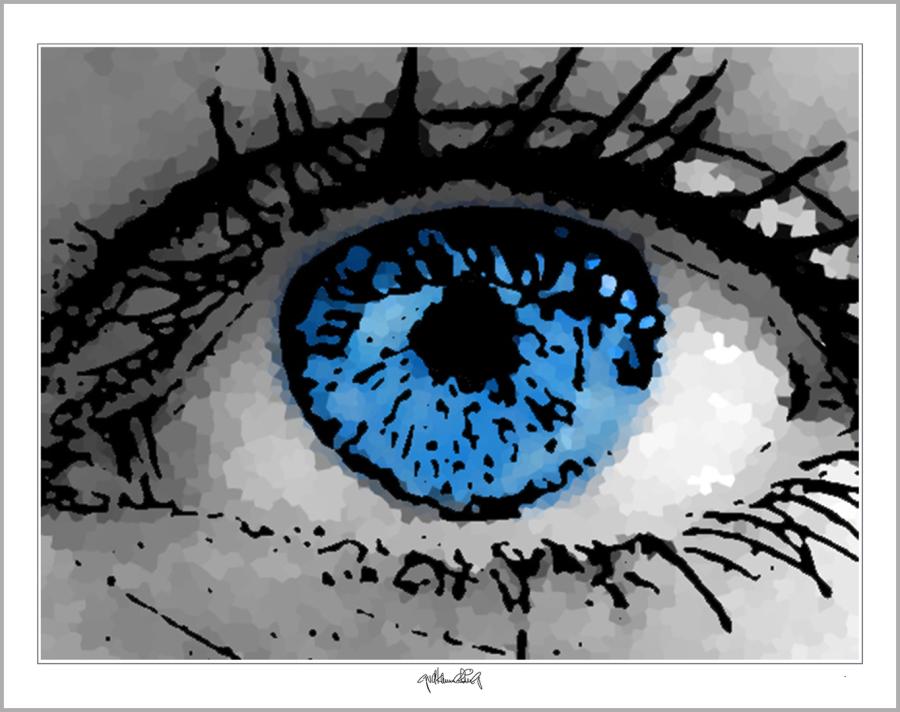 blaue Augen, Augen, lange Wimpern, Bild, Wandbild