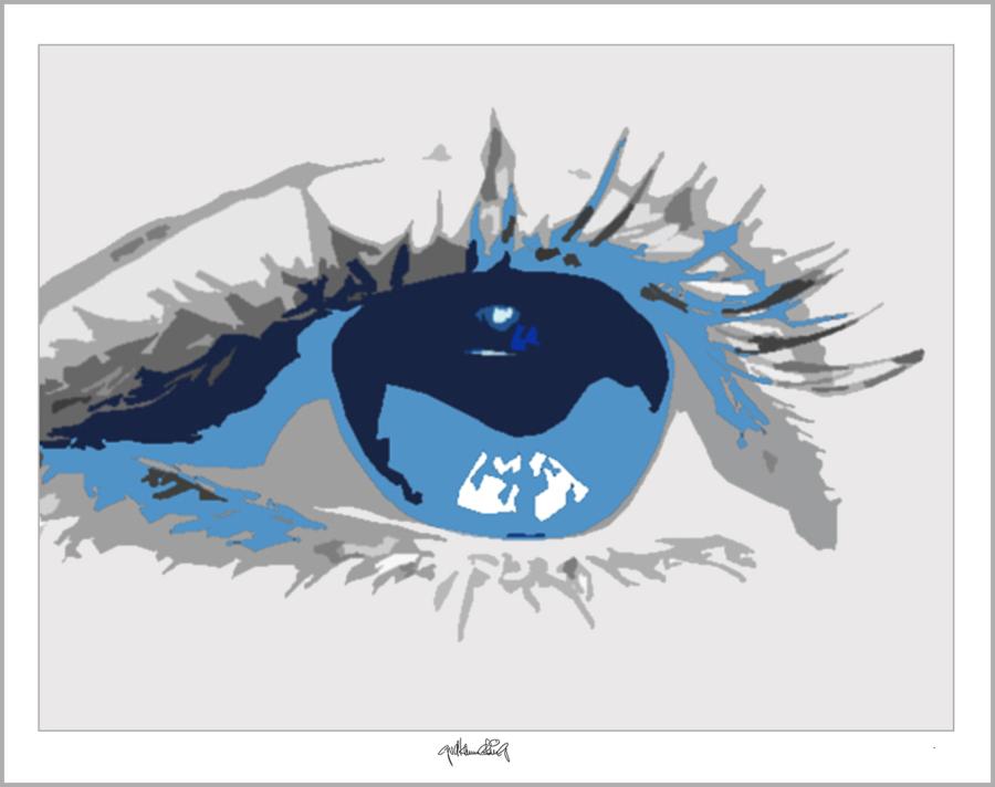 Blaue Augen, Kunstbild,