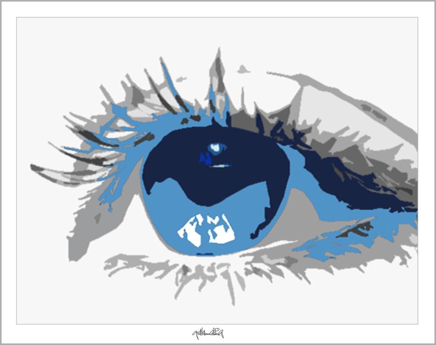 Kunst und Augen, Augenkunstbild, Wandbild