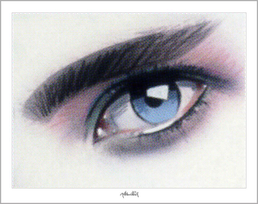 blaue Augen, Augen, Auge und Kunst,