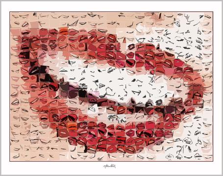 Bilder, Kunst für Zahnärzte, rote Lippen, Wandbilder für Zahnärzte und Zahnpraxen, Kunst Zahn,