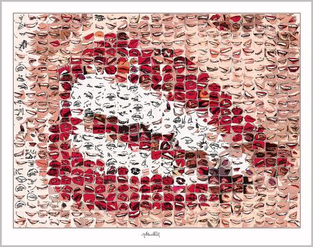 Schöe Zähne, Galerie, Kunstgalerie, Vernissage, Galerie, Kunstgalerie, Vernissage, Kunst mit Lippen