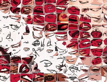 Kunst Zahn, Kunst und Zähne, Lippen und Kunst, Bilder fürs Wartezimmer,