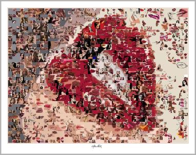 Rote Lippen, Kunst, Lippenkunst, Zahnarztpraxis, Bild, Fotografie, Wandbild, Kunstdruck